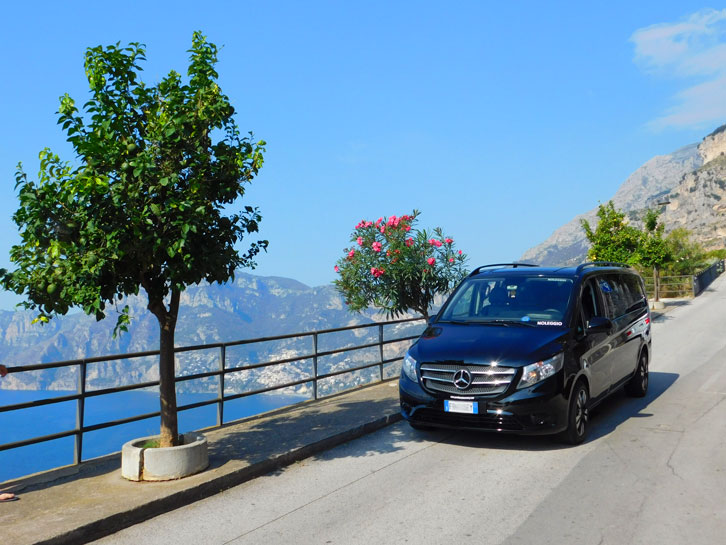 Amalfi car with driver picture